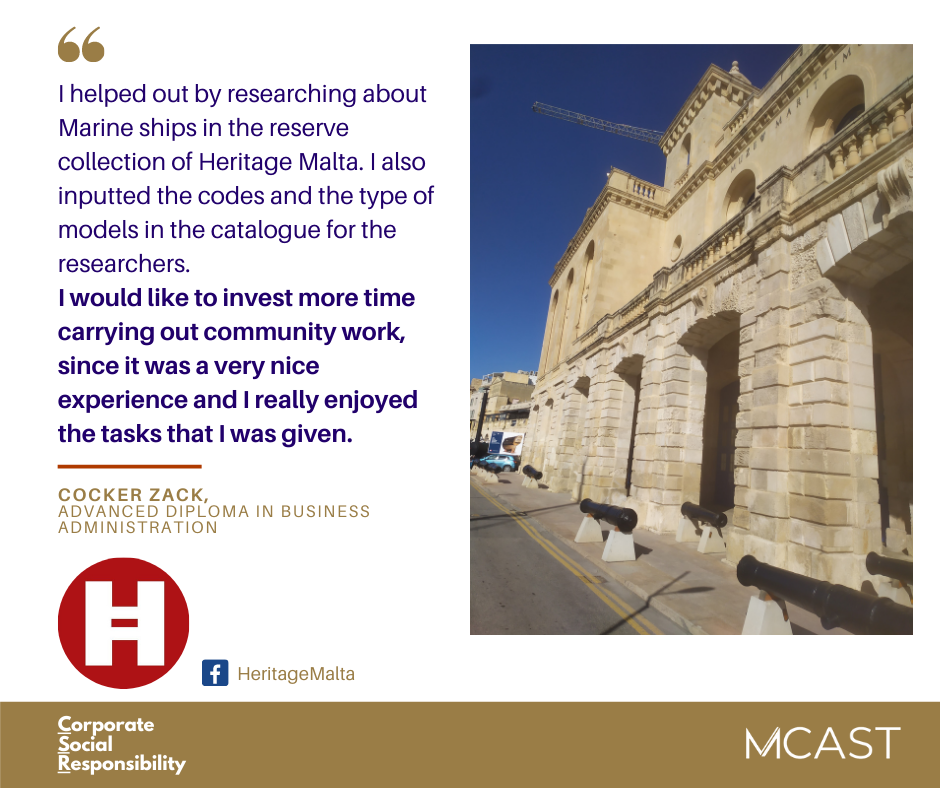Cocker Zack - MCAST CSR testimonial - heritage malta