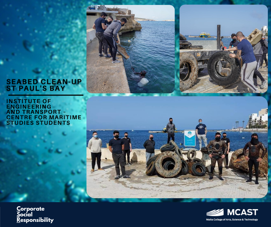 Maritime Students - Seabed clean-up st pauls bay