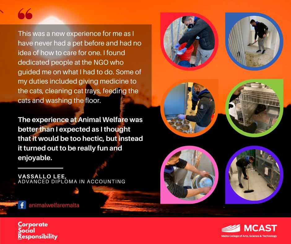 Vassallo Lee- MCAST CSR Testimonial - AnimalWelfare